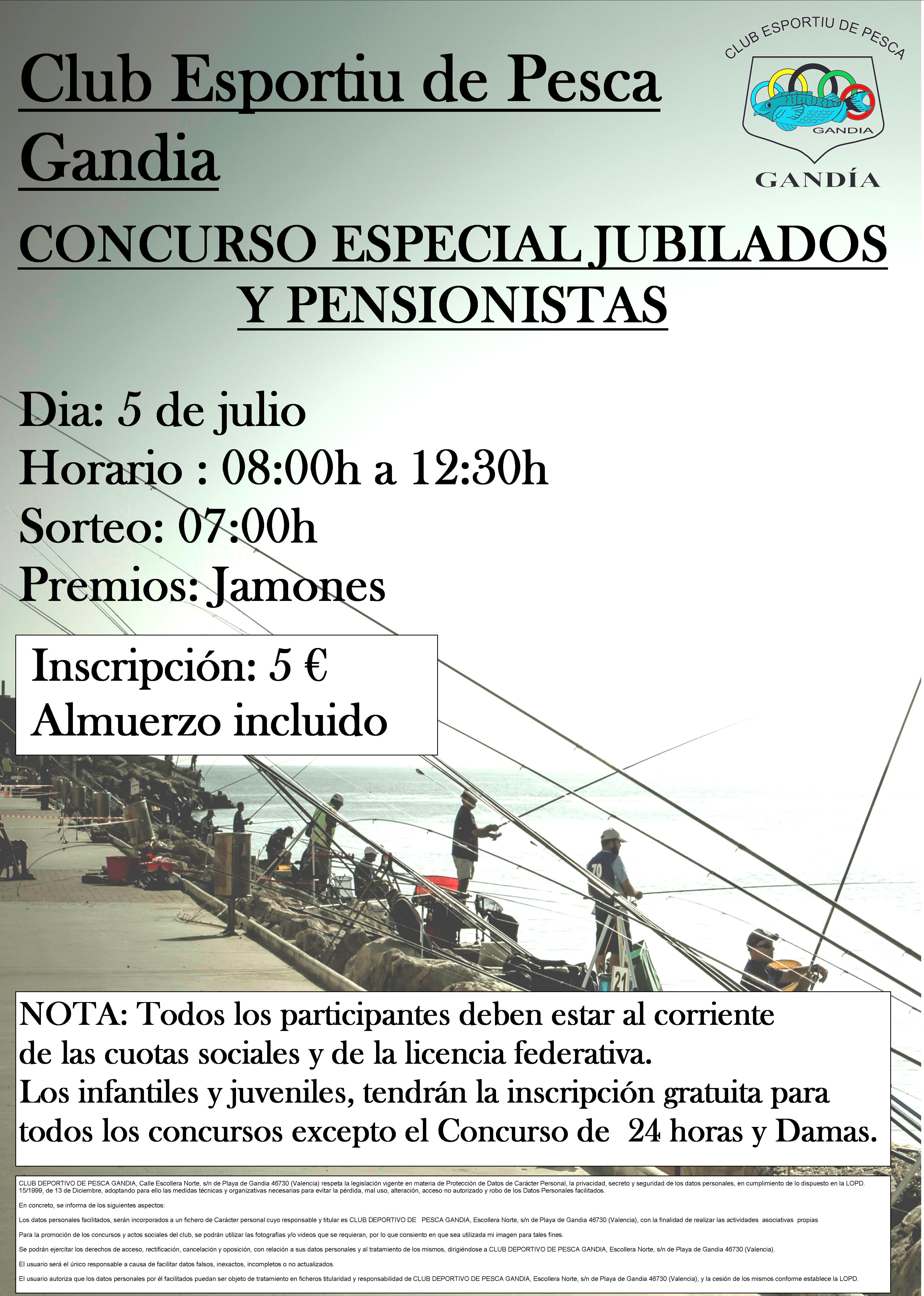 Concurso especial, Jubilados y Pensionistas - 5 de Julio